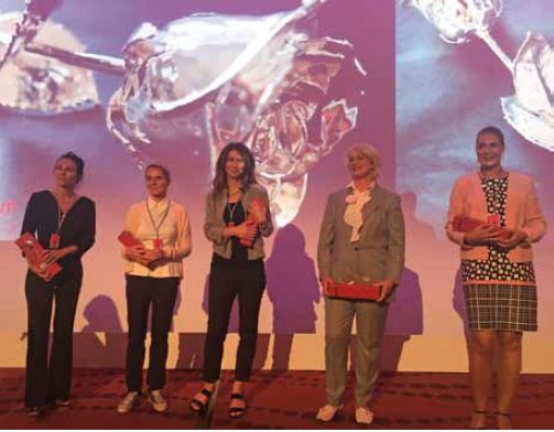 Abb. 2: Die Referentinnen (v.l.n.r.): Dr. Cécile Winter, Dr. Christine Hoffmann, Dr. Elisabeth Schumachers, Dr. Britta Knoll und Dr. Melanie Hartmann.